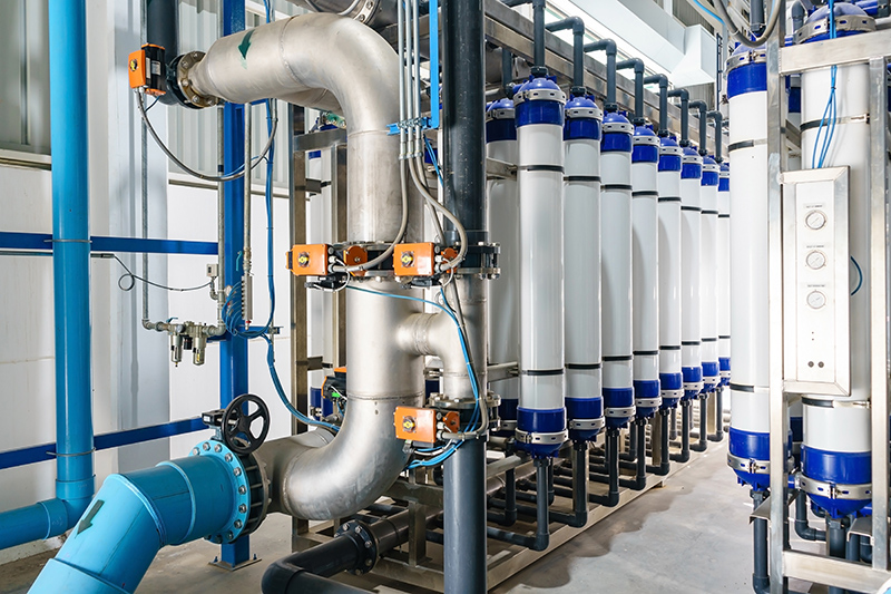 Image of an Industrial water purification system pipes and tubing | TAB Bank