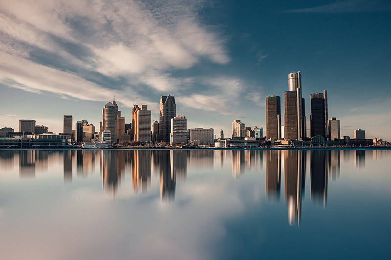 Image of the Detroit Michigan skyline from the lake | TAB Bank