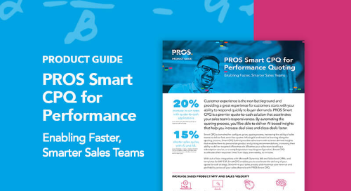 PROS Smart CPQ for Performance Quoting Product Guide
