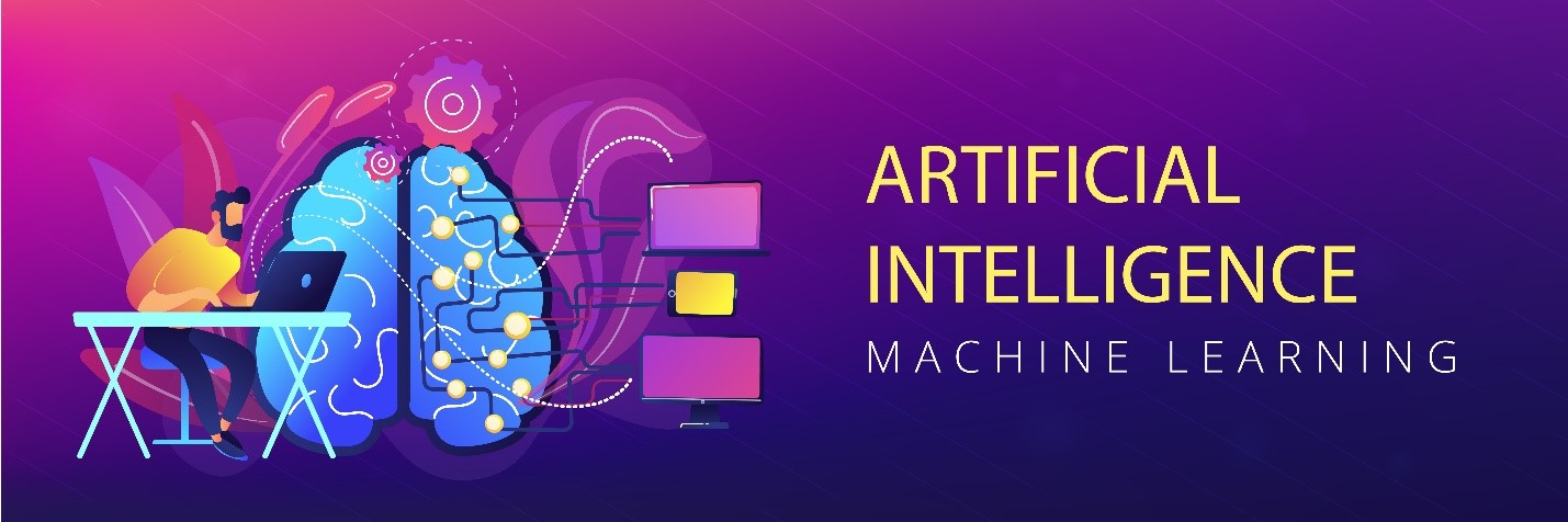 Machine learning, artificial intelligence, digital brain and artificial thinking process concept.