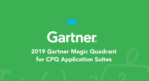 October 2019 Gartner Magic Quadrant for CPQ Application Suites