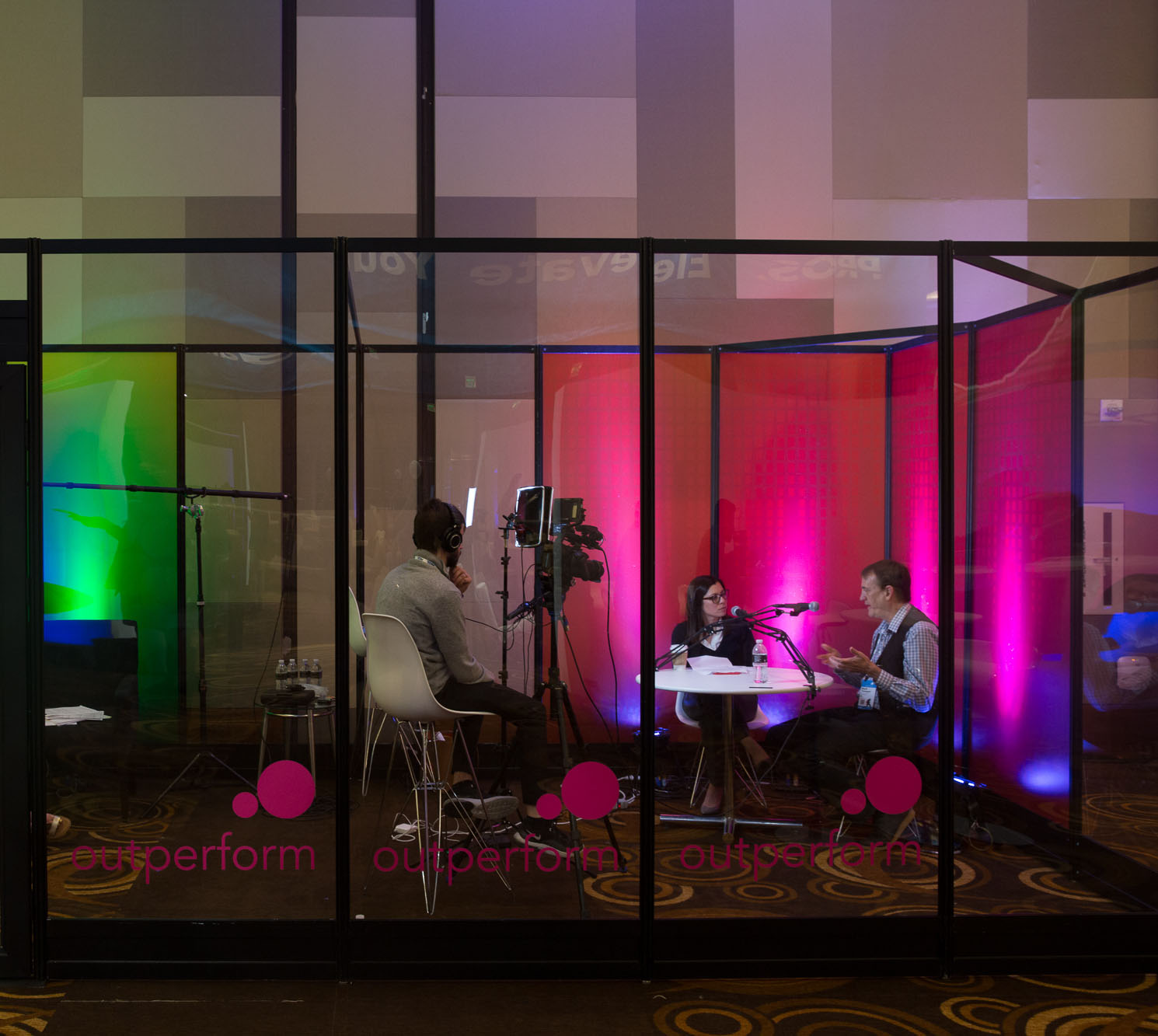 Outperform 2019 conference media booth