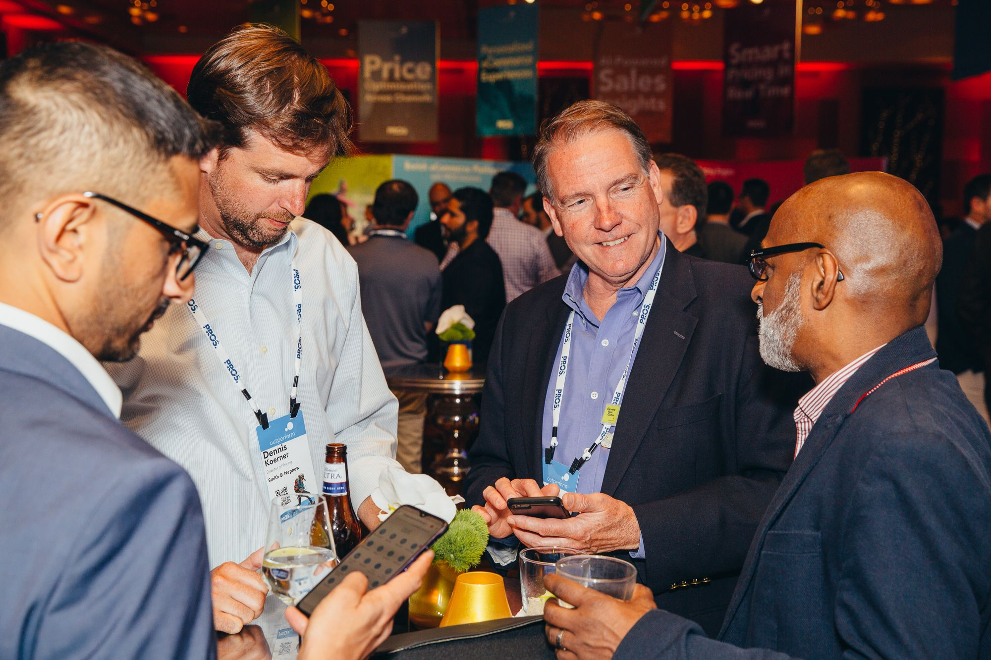 Networking during the PROS Outperform 2019 conference in Las Vegas