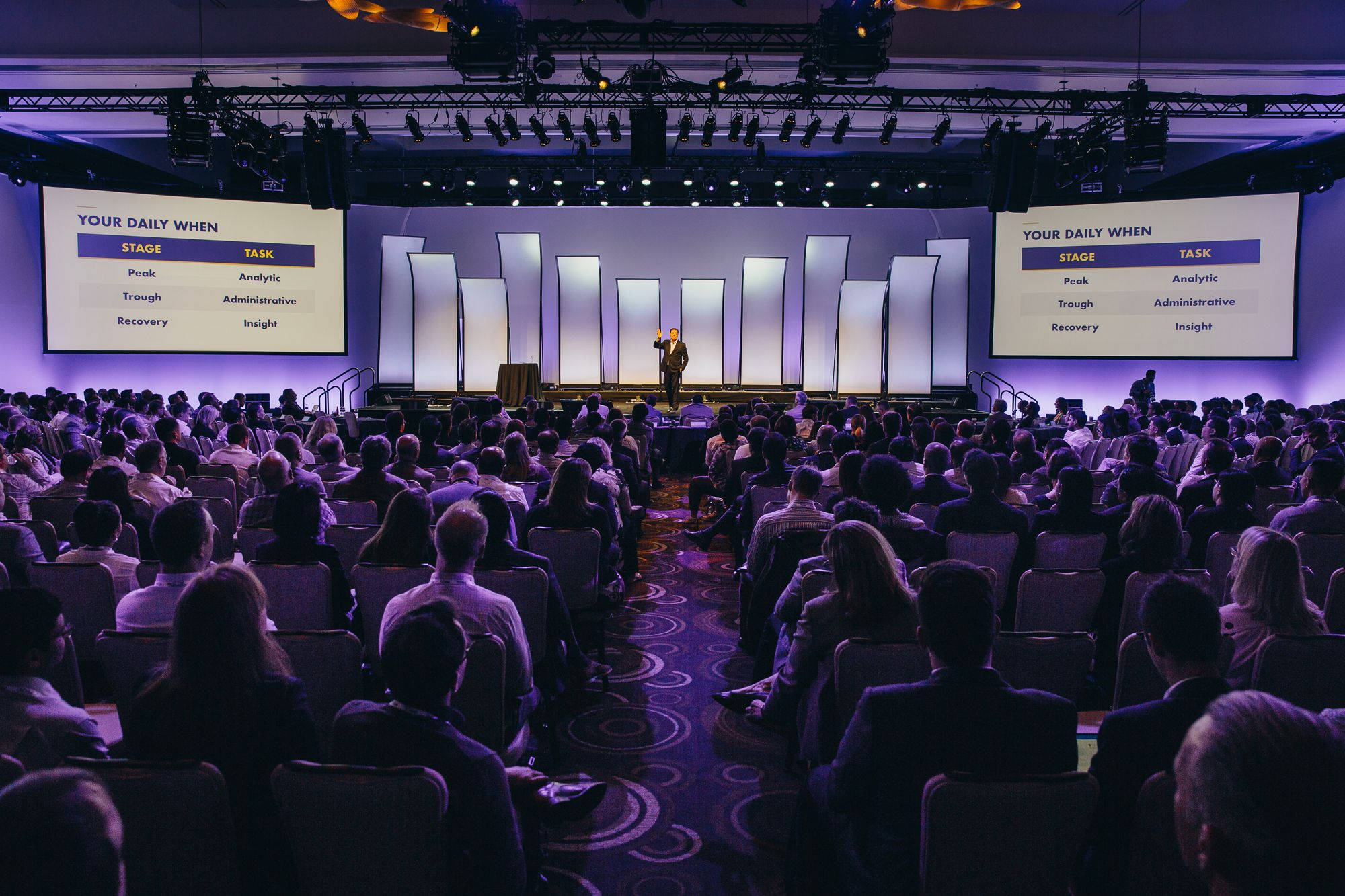 Daniel Pink at the Outperform 2019 stage