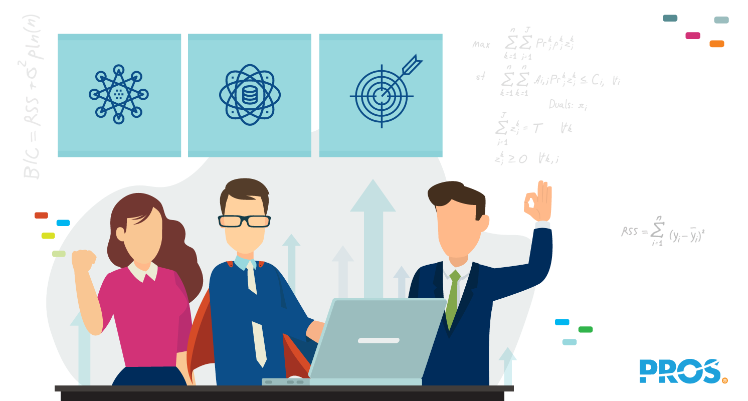Vector illustration depicting how airline revenue management can help sales teams feel more confident