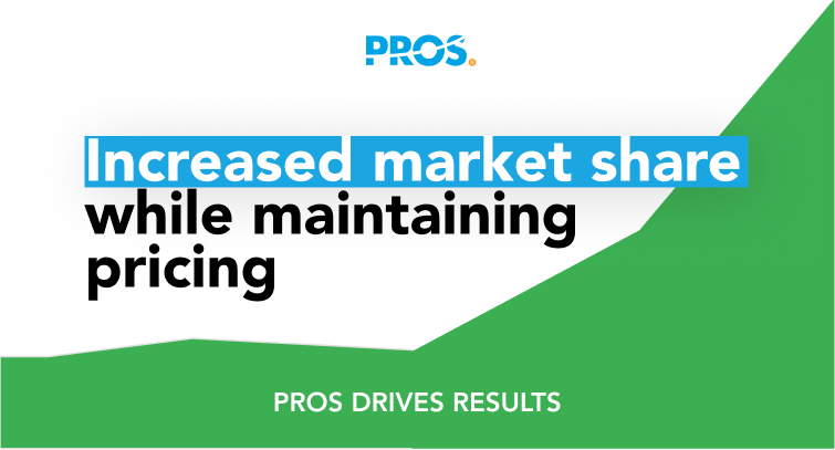 Increased market share while maintaining pricing