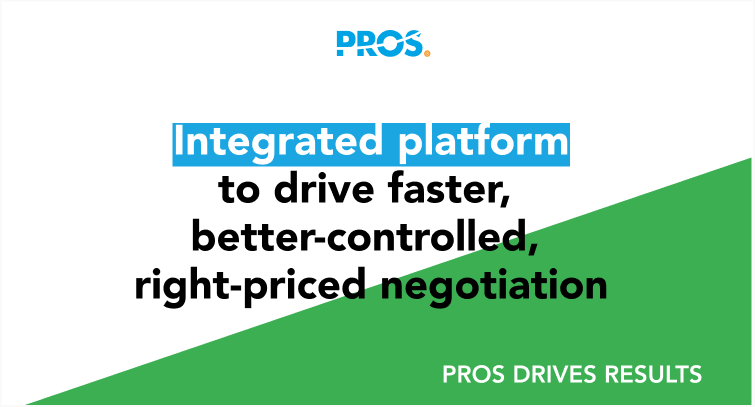 Integrated platform to drive faster, better-controlled, right-priced negotiation