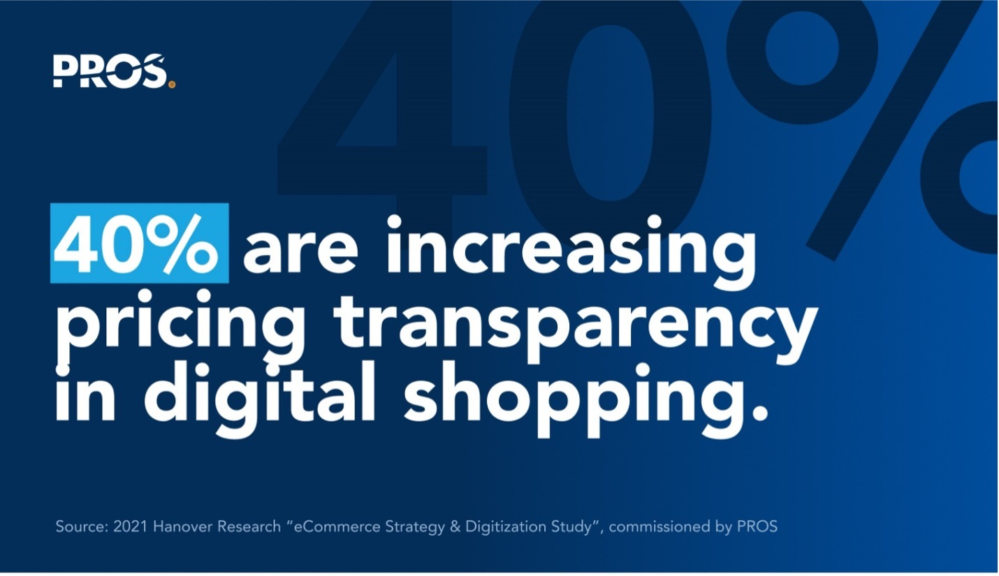 Increasing pricing transparency in digital shopping callout