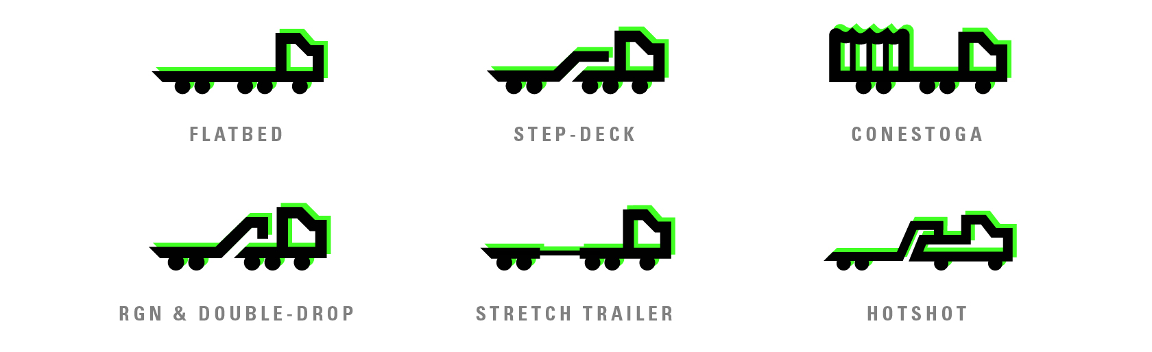 Types of open deck equipment