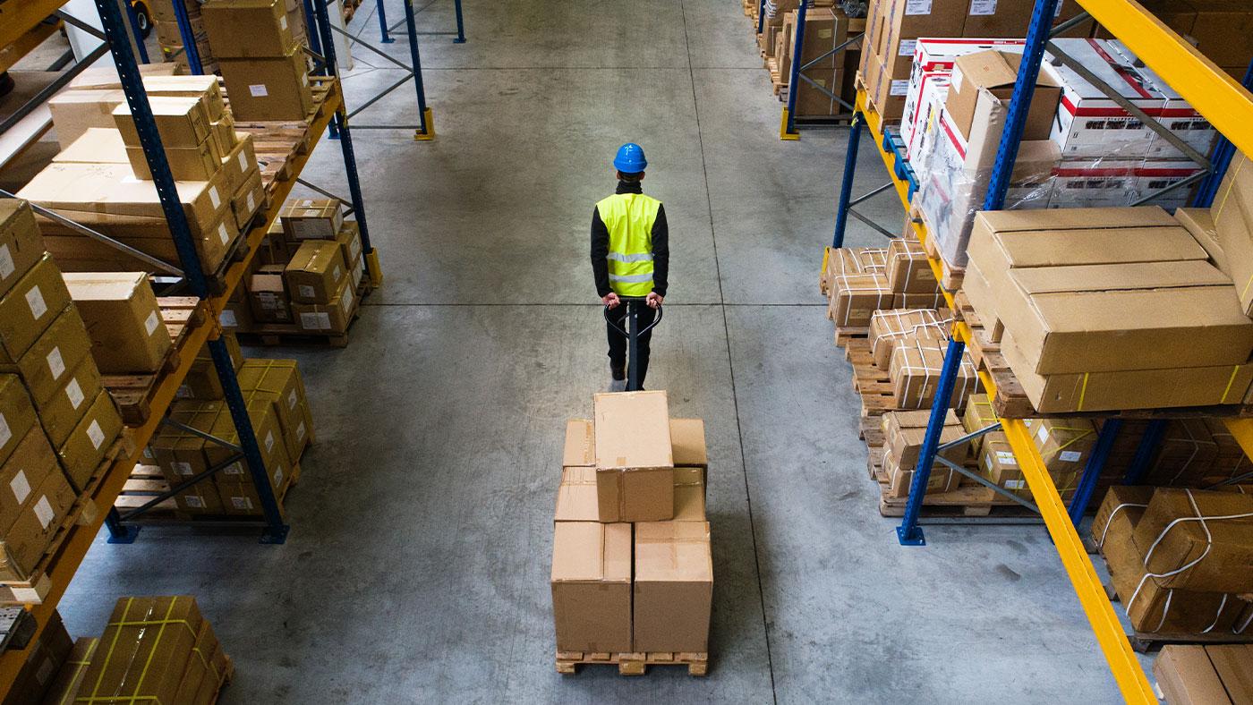 shipment in warehouse