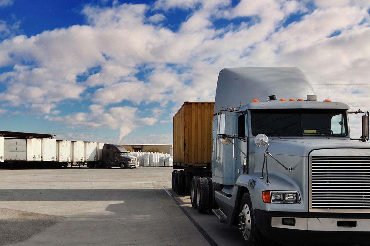 Loading and unloading trucks