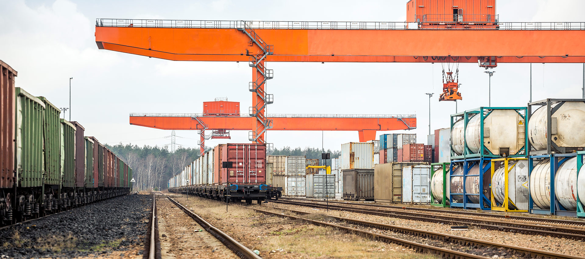 Shipment on train