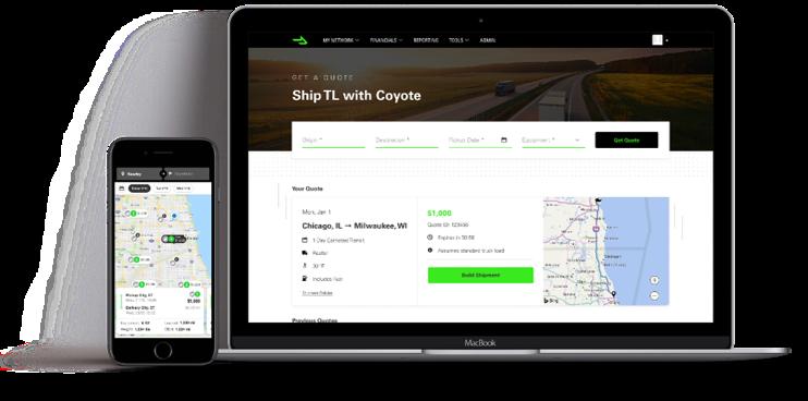 CoyoteGO Mobile and Desktop Display