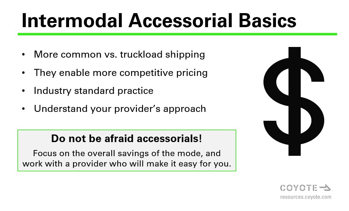 Intermodal Accessorial Basic information