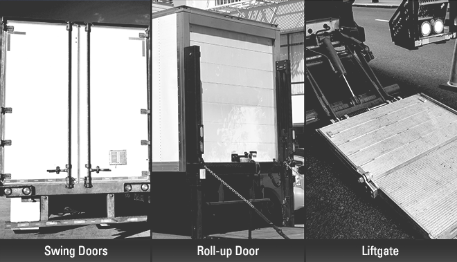 Swing doors vs. roll-up door vs. liftgate