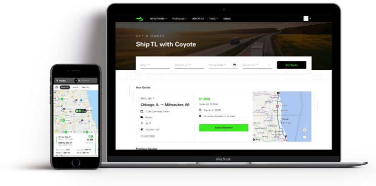 CoyoteGO Mobile and Desktop