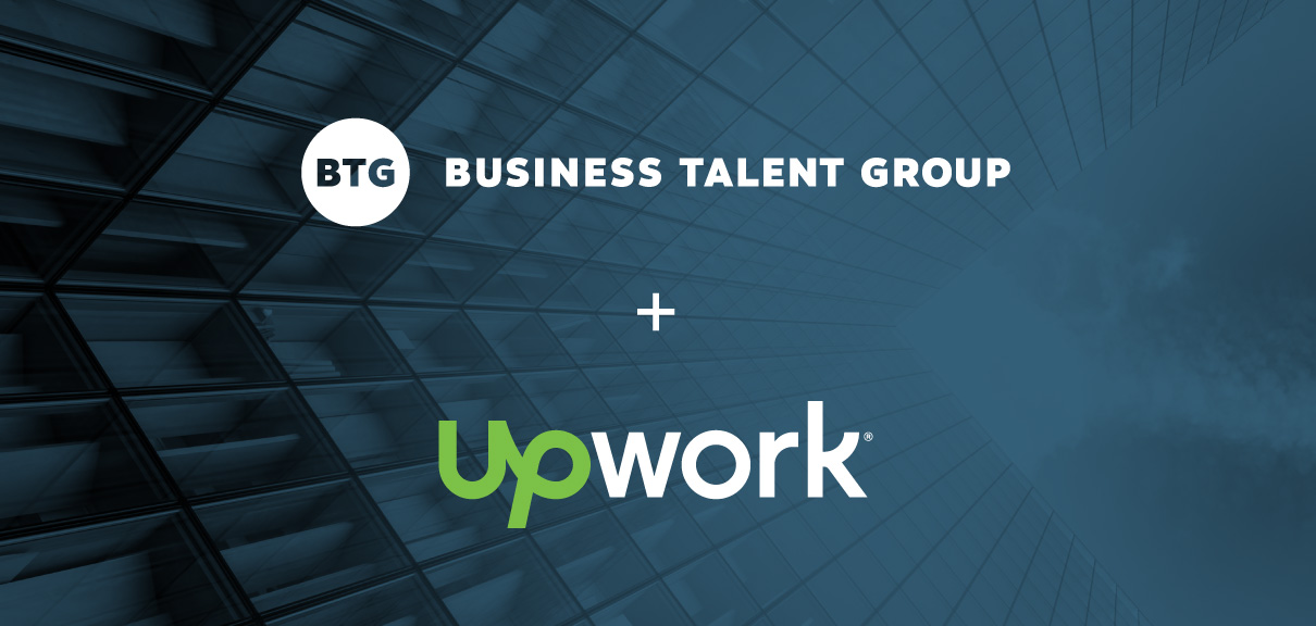Upwork and Business Talent Group logos