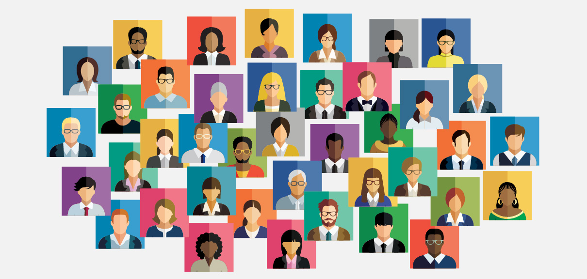 Demand for Independent Talent in HR Is up 80%. Here's Why. - Collage of illustrated professional headshots