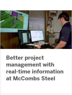 Better project management with real-time information at McCombs Steel
