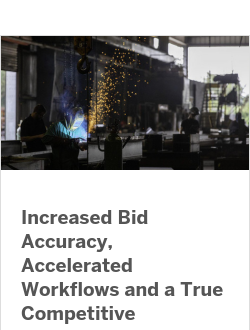 Increased Bid Accuracy, Accelerated Workflows and a True Competitive Advantage with Model-based Estimating