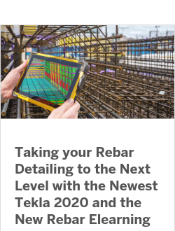 Taking your Rebar Detailing to the Next Level with the Newest Tekla 2020 and the New Rebar Elearning