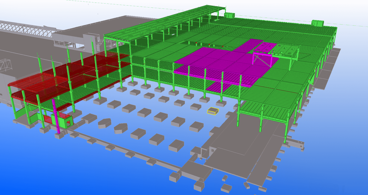 Collaboration using common Precast Modeling Guideline enabled precast delivery at record speed and without errors. Status management kept everybody in design, fabrication and construction informed.
