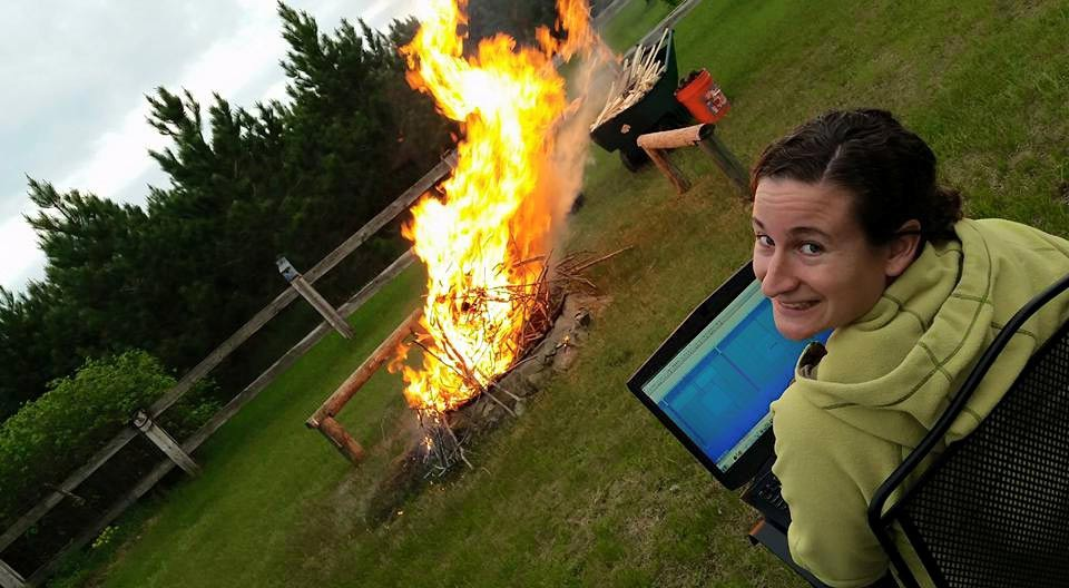 Modeling with Tekla Structures by a bonfire in North Dakota