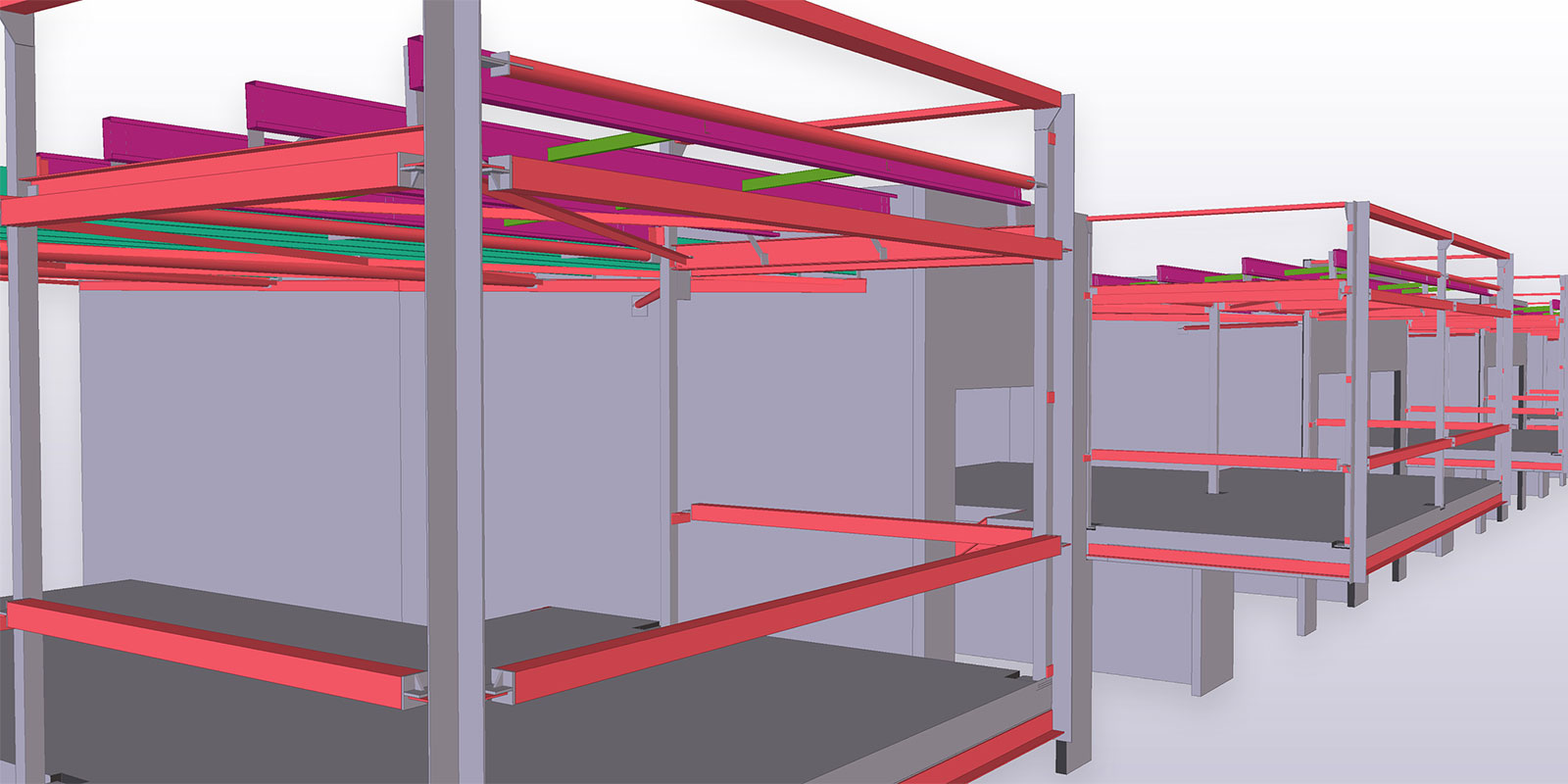 Tekla's quality information output supports fabrication automation throughout the process.