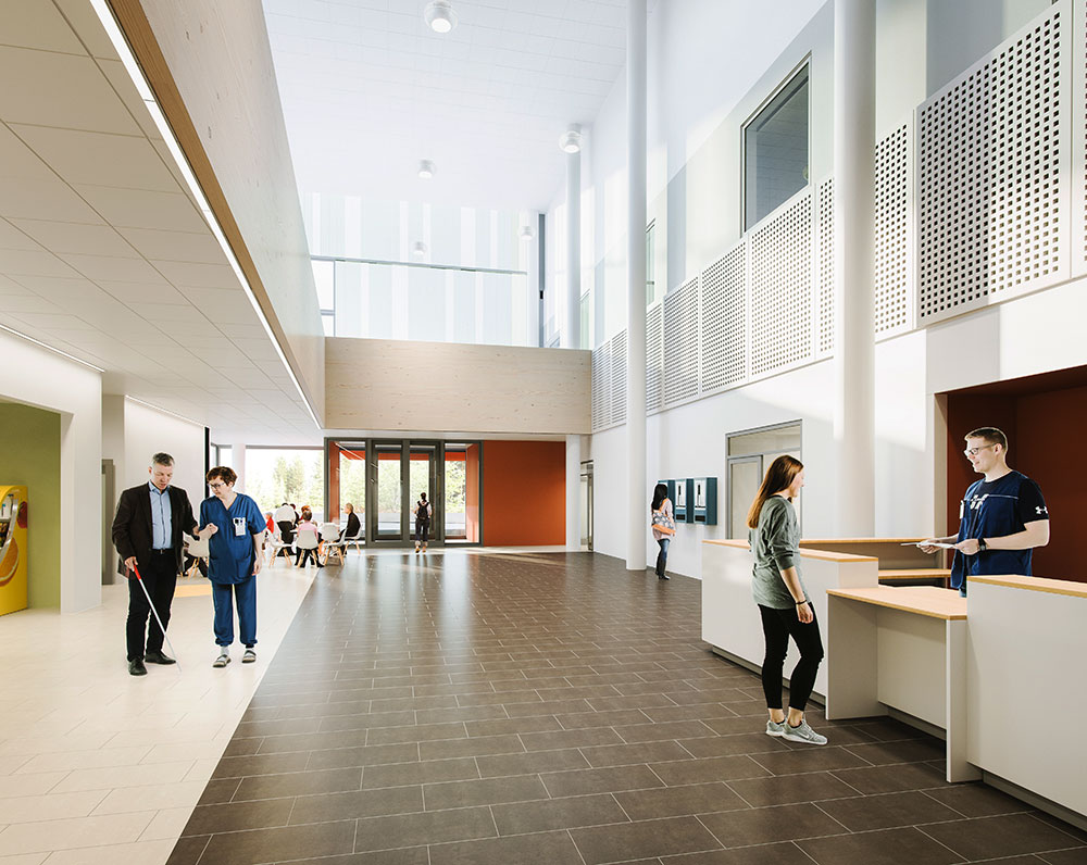 Kainuu Hospital architect image lobby