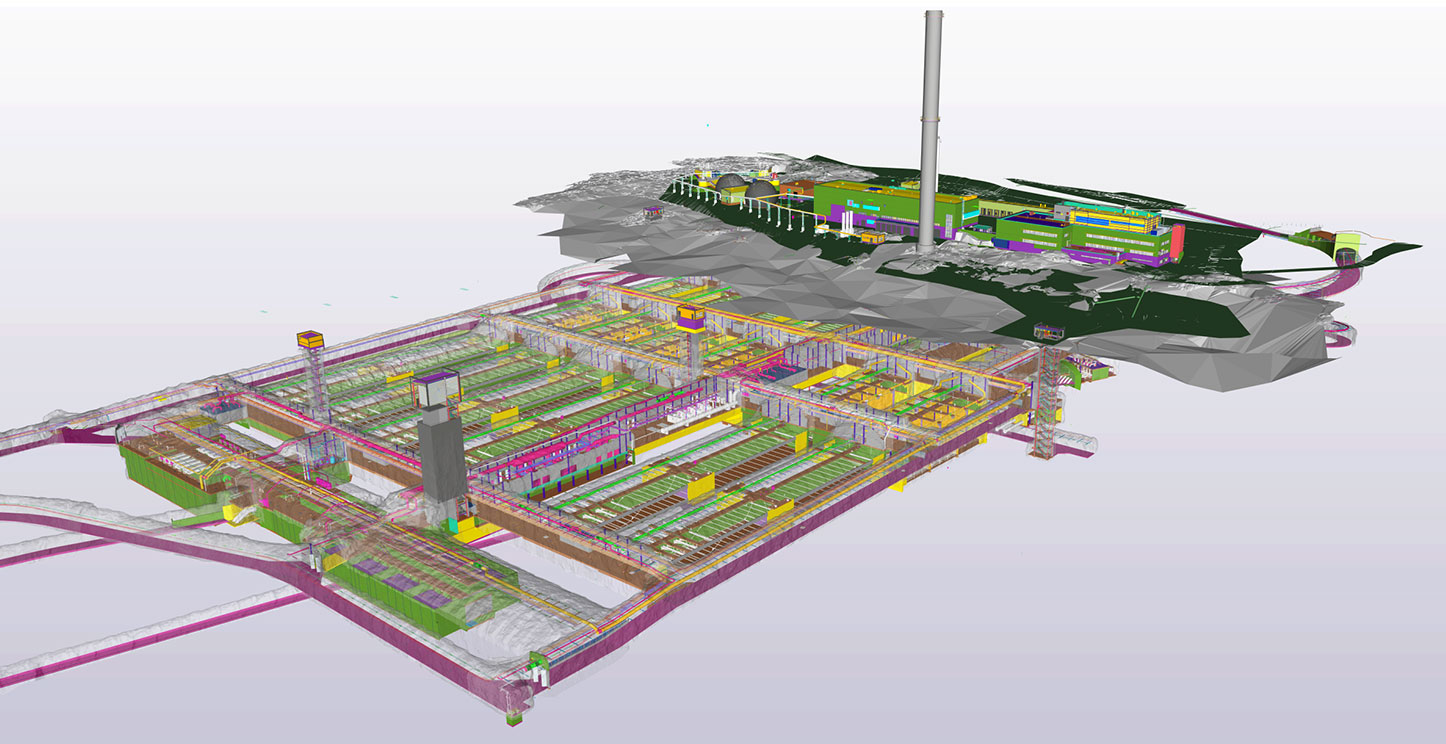 Detailed Building Information Model of Blominmäki wastewater treatment plant