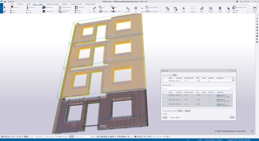 Batch Editor simplifies detailing of repetitive structures.