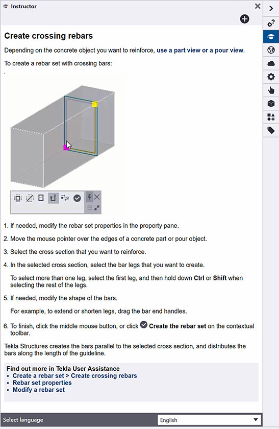 New Instructor Side Pane provides in-product guidance - learn as you go.