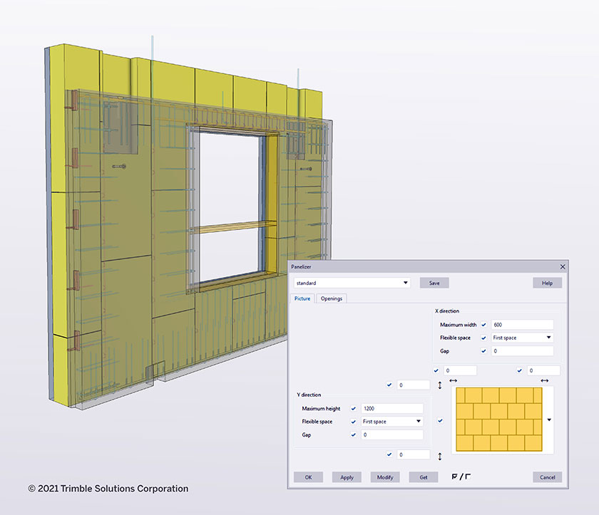 The Panelizer helps dividing for example insulation into stock size panels.