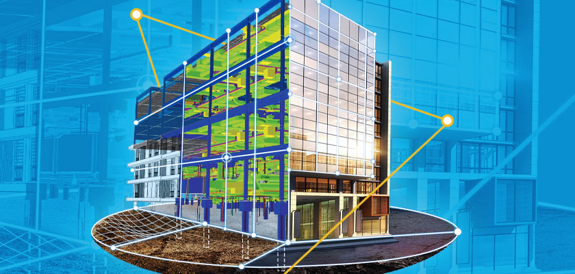 Constructible building information model of a building