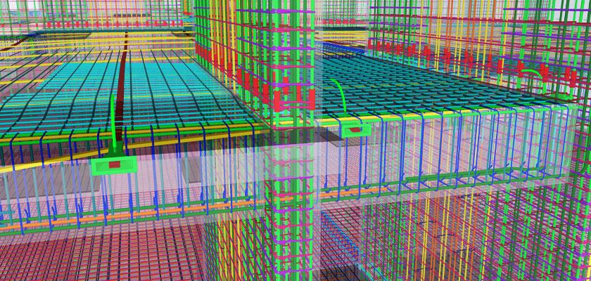 High level of details (LOD) in a rebar 3D model