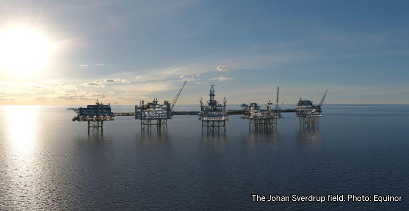 The Johan Sverdrup field. Photo: Equinor