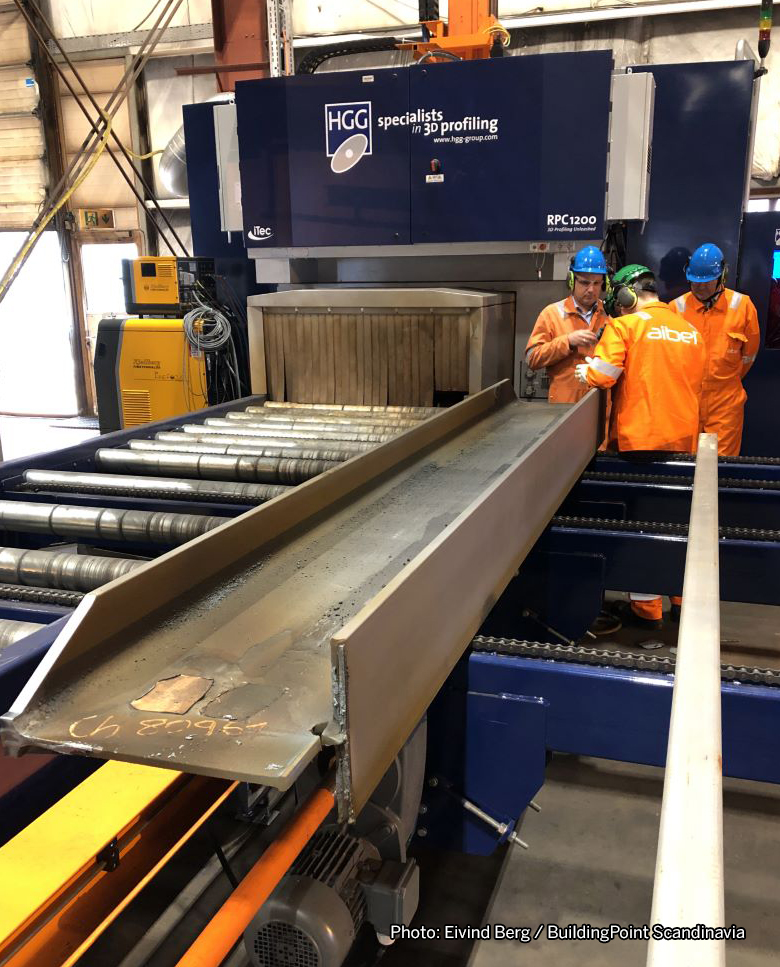 Automated production machinery at Aibel. Photo: Eivind Berg / BuildingPoint Scandinavia