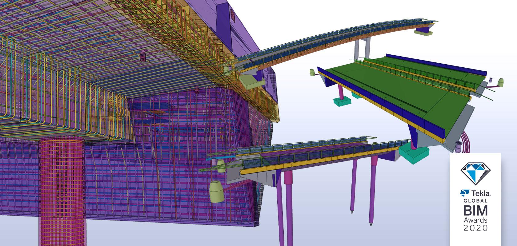 Tekla Structures BIM bridges of the Highway 4 Kirri-Tikkakoski project
