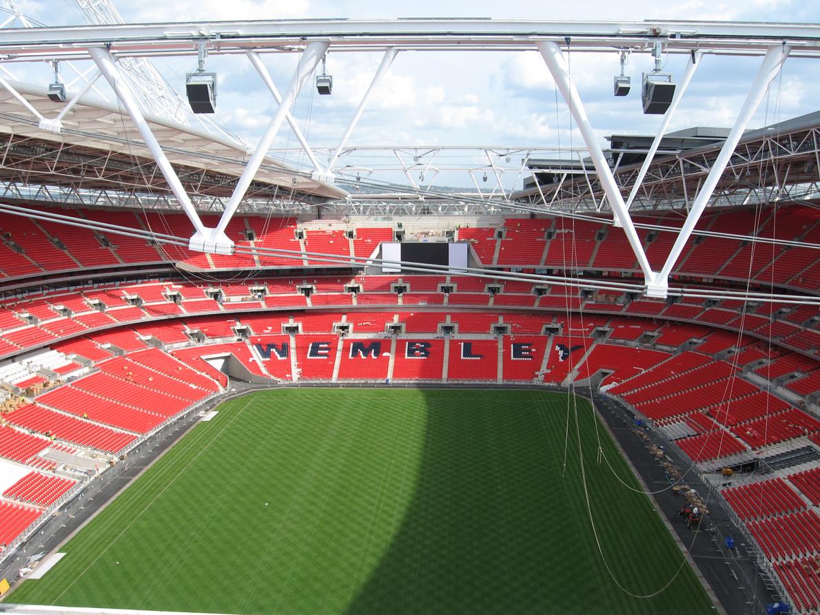 Wembley stadium aerial