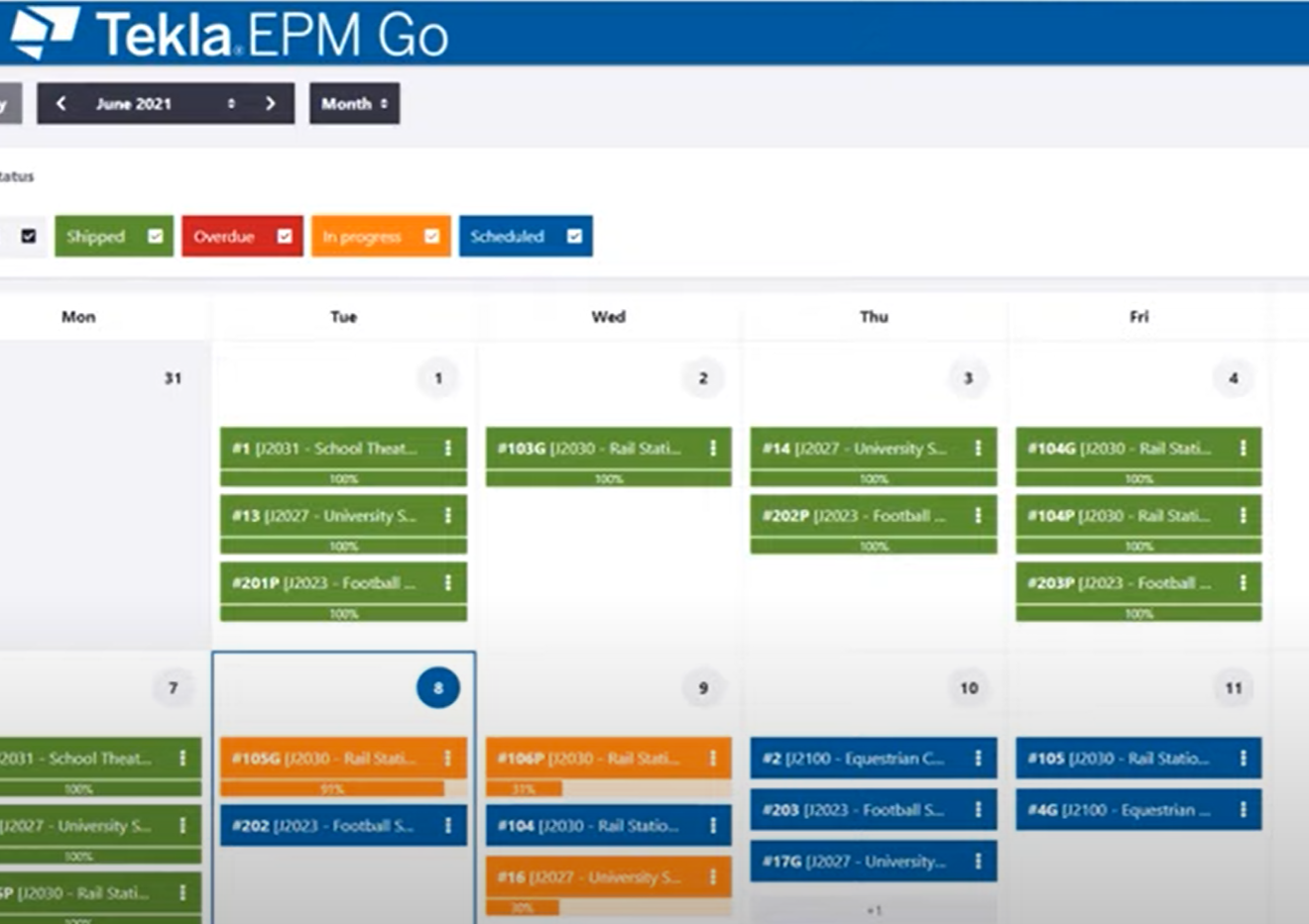 New shipping schedule to better plan and organize your shipments across all jobs
