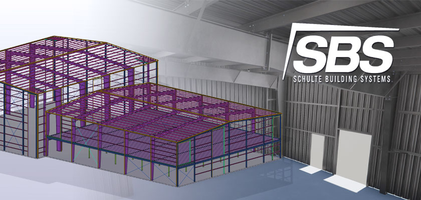 Schulte details metal buildings 50% faster using the MBS to Tekla link