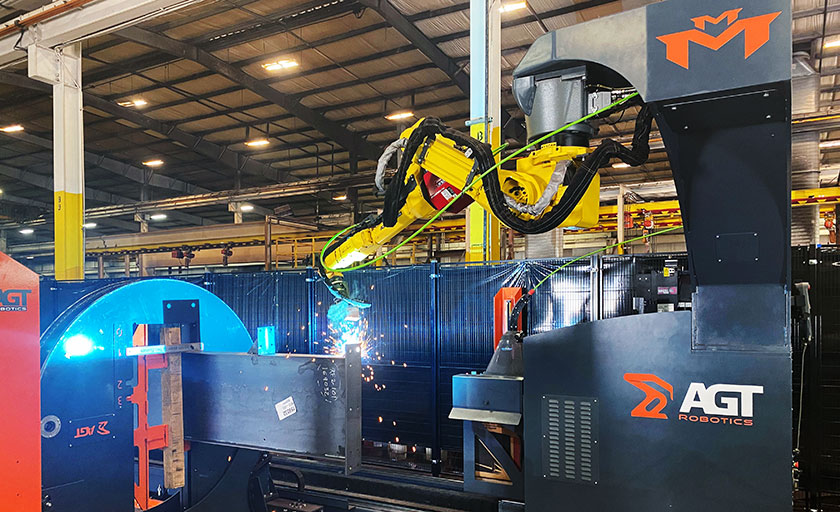 AGT welding robot in action at Schulte facility