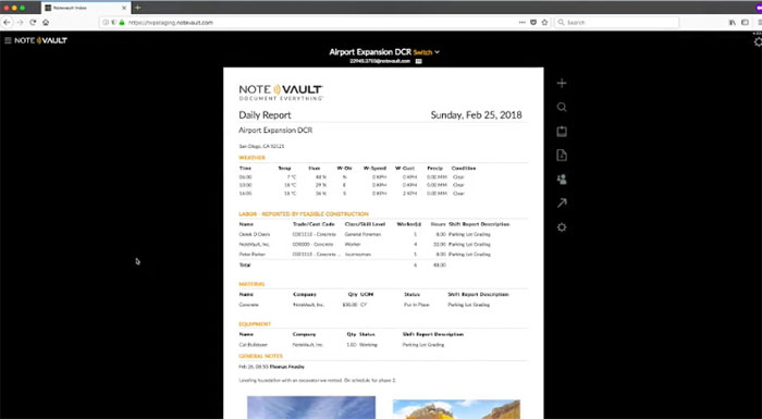 notevault-construction-daily-reports