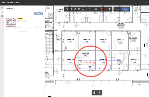 BIM 360 Docs 2D Markup Shape and Text