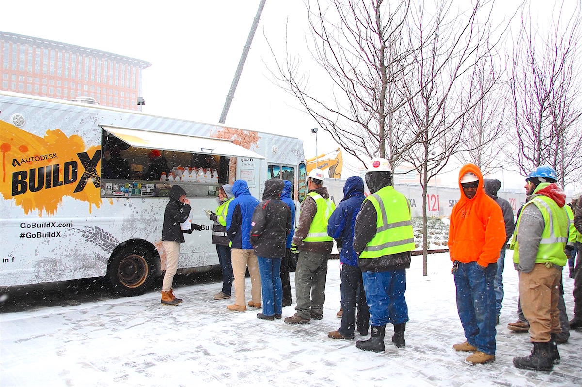 BUILD X Food Truck Skanska Snow Web