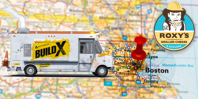 Build X Twitter -  Boston Map + Roxy + Truck