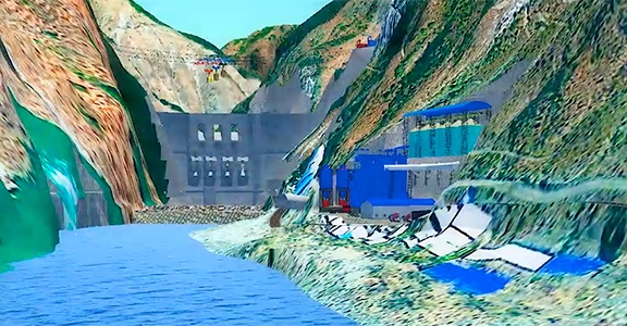 HydroBIM-Yangfanggou-Hydropower-Station-Kunming-Construction-Software
