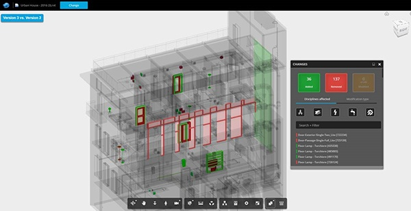 Autodesk BIM 360 Team construction collaboration software overlay mode