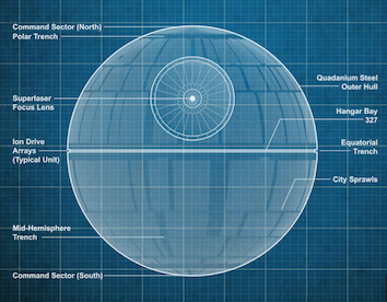 Star Wars Rogue One Death Star Diagram Construction Project Management