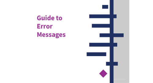 Guide to Error Messages